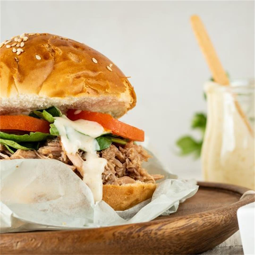 Pulled Pork Burger with Special Sauce