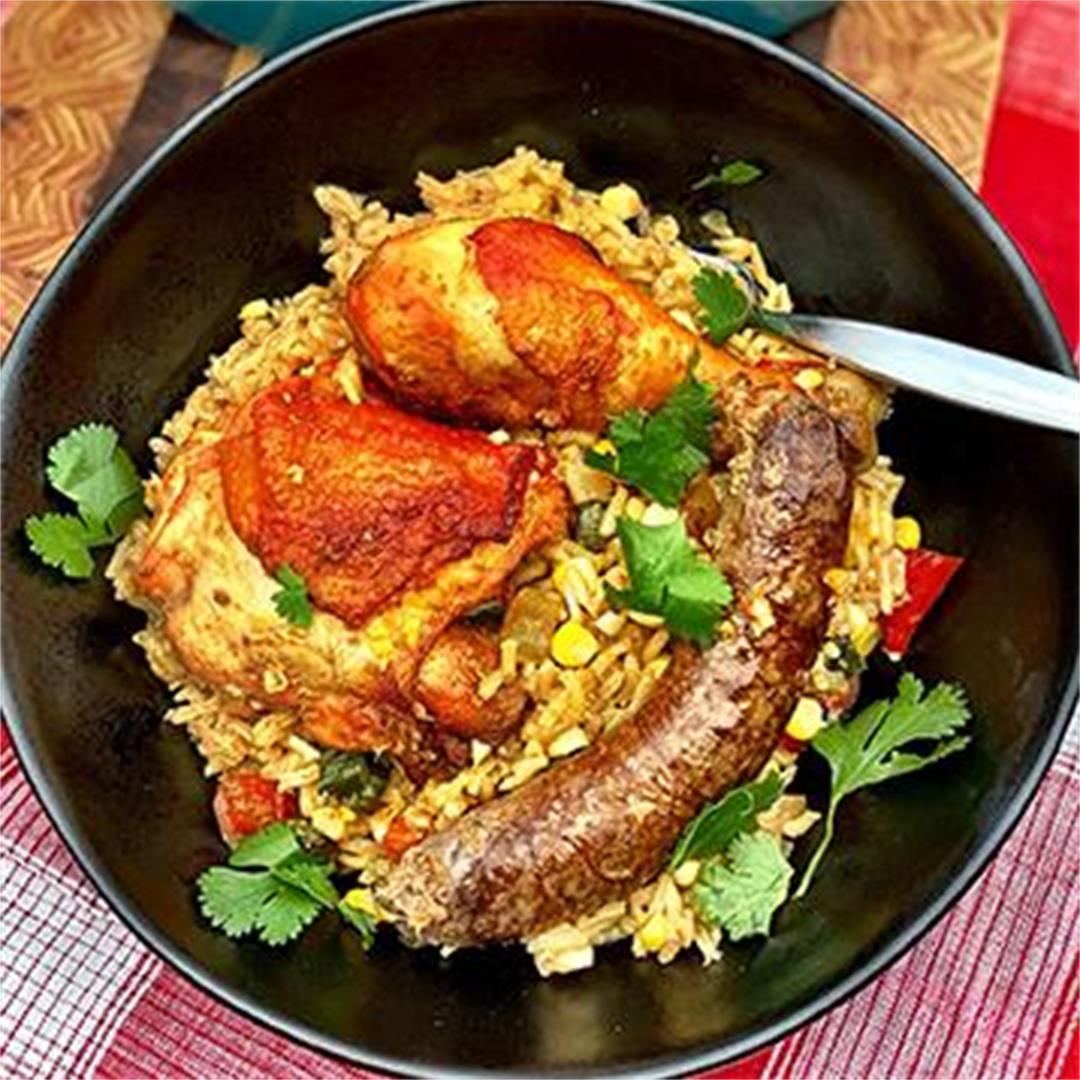 Arroz Con Pollo with Wagyu Beef Chorizo