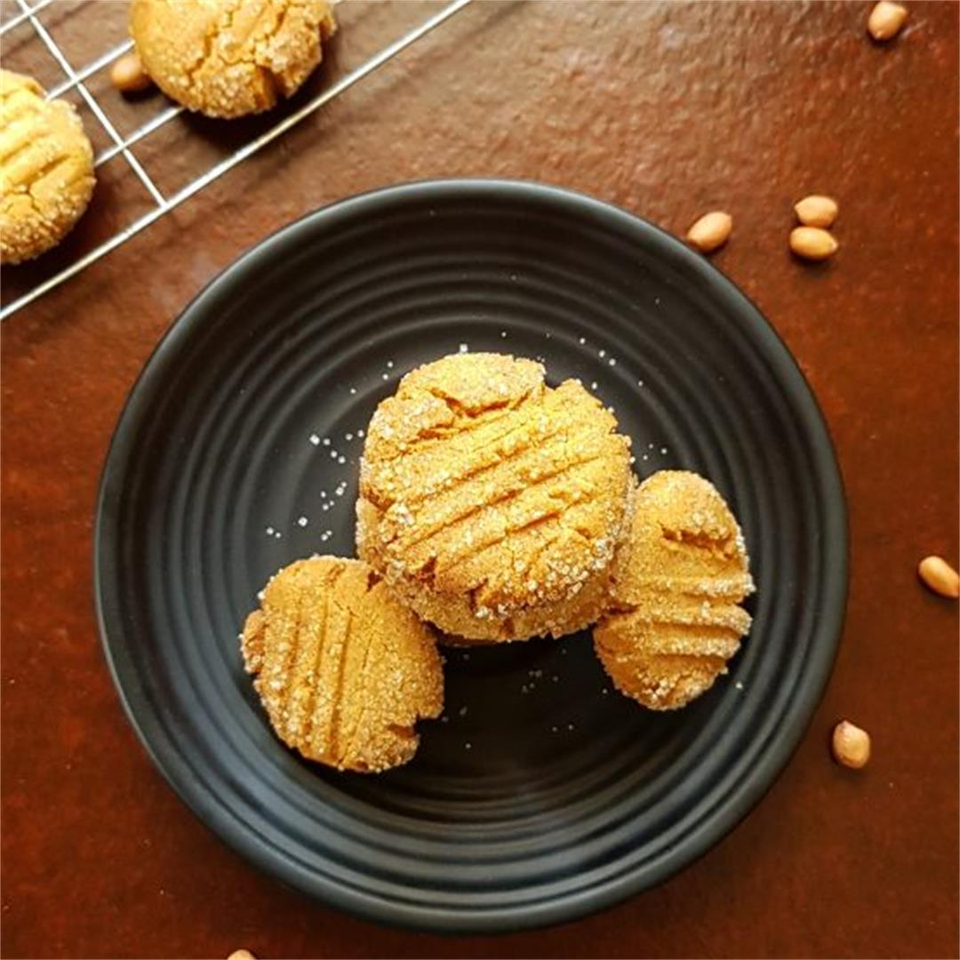 How To Make Eggless Simple Homemade Peanut Butter Cookies
