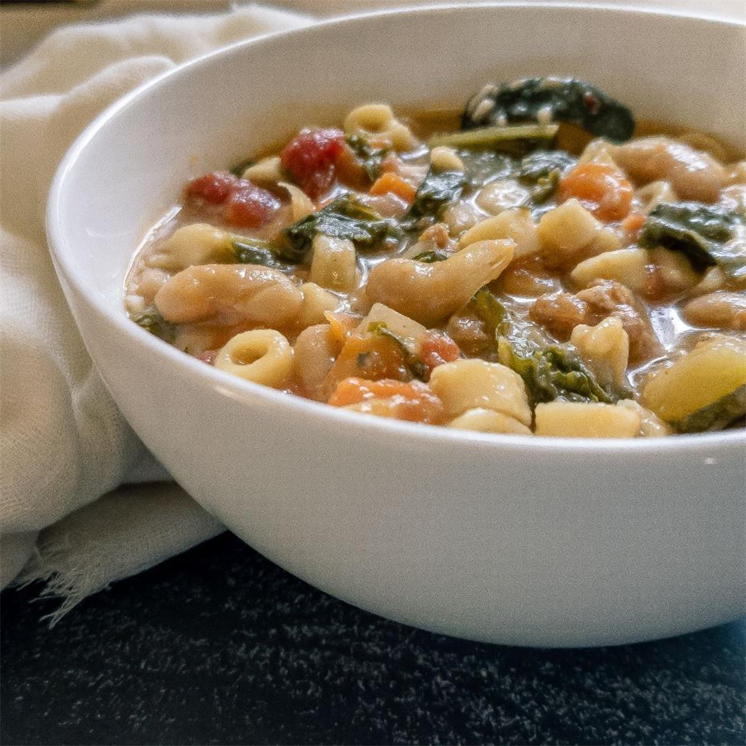 Hearty Tuscan Pasta and Bean Soup