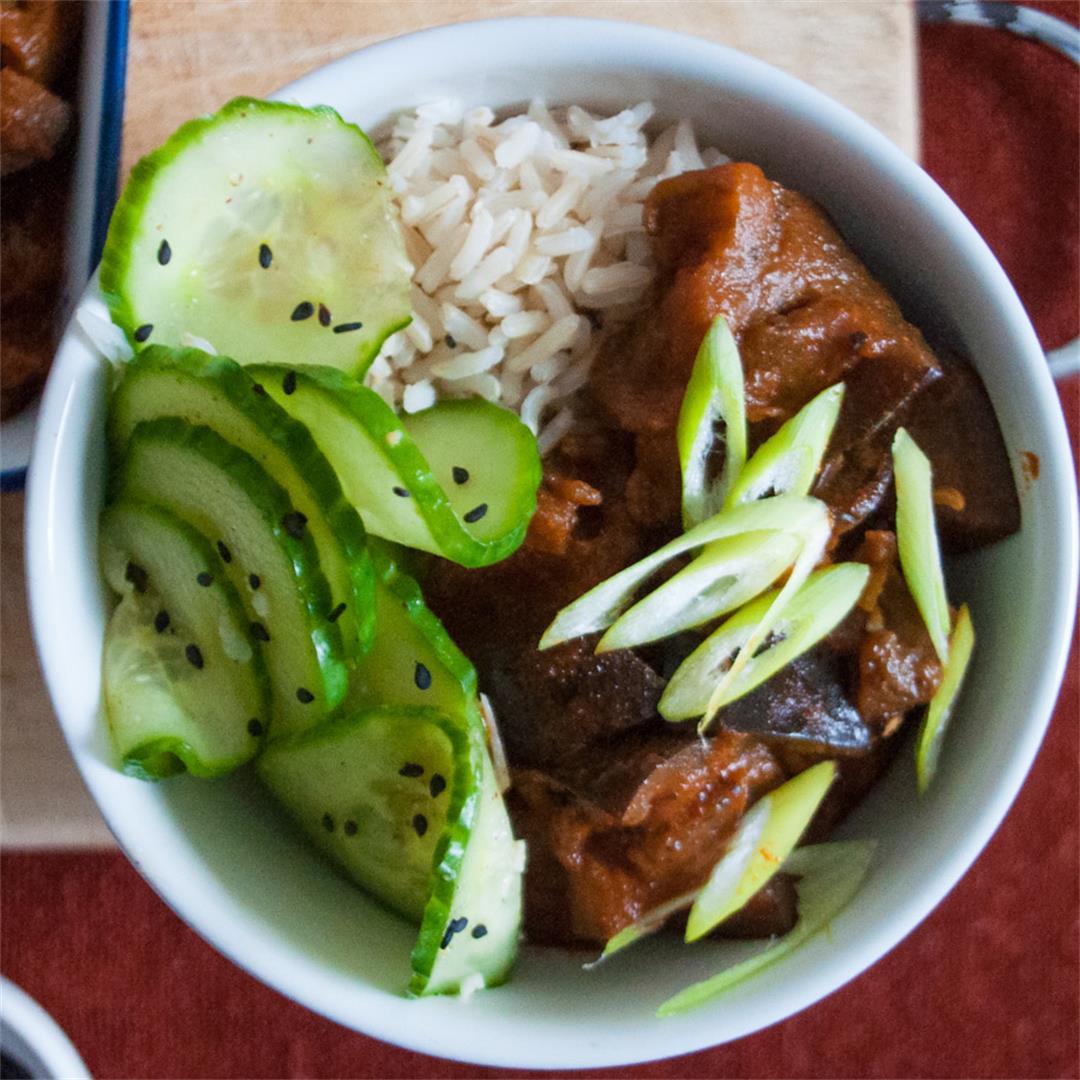 Gochujang Aubergine Rice Bowl