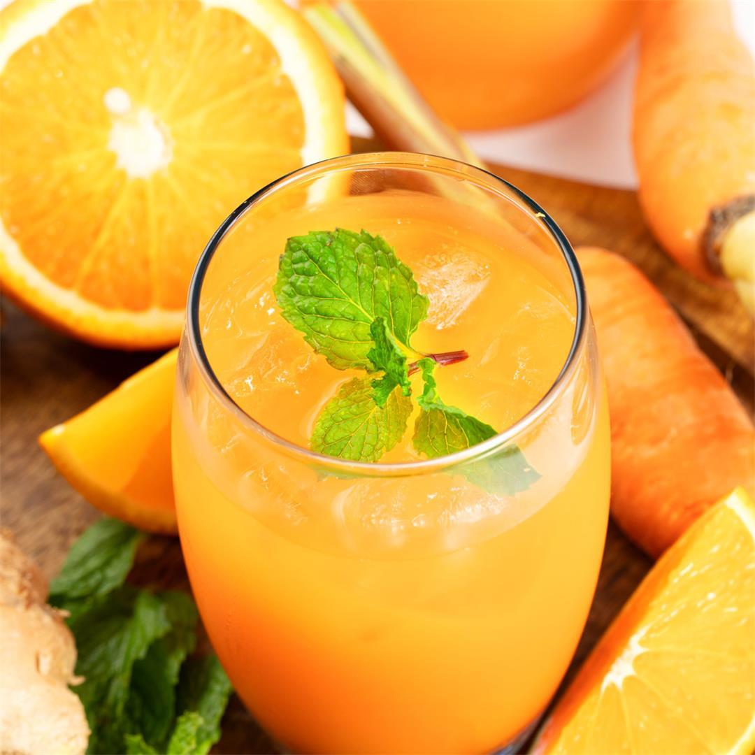 Carrot Orange Ginger Juice Recipe