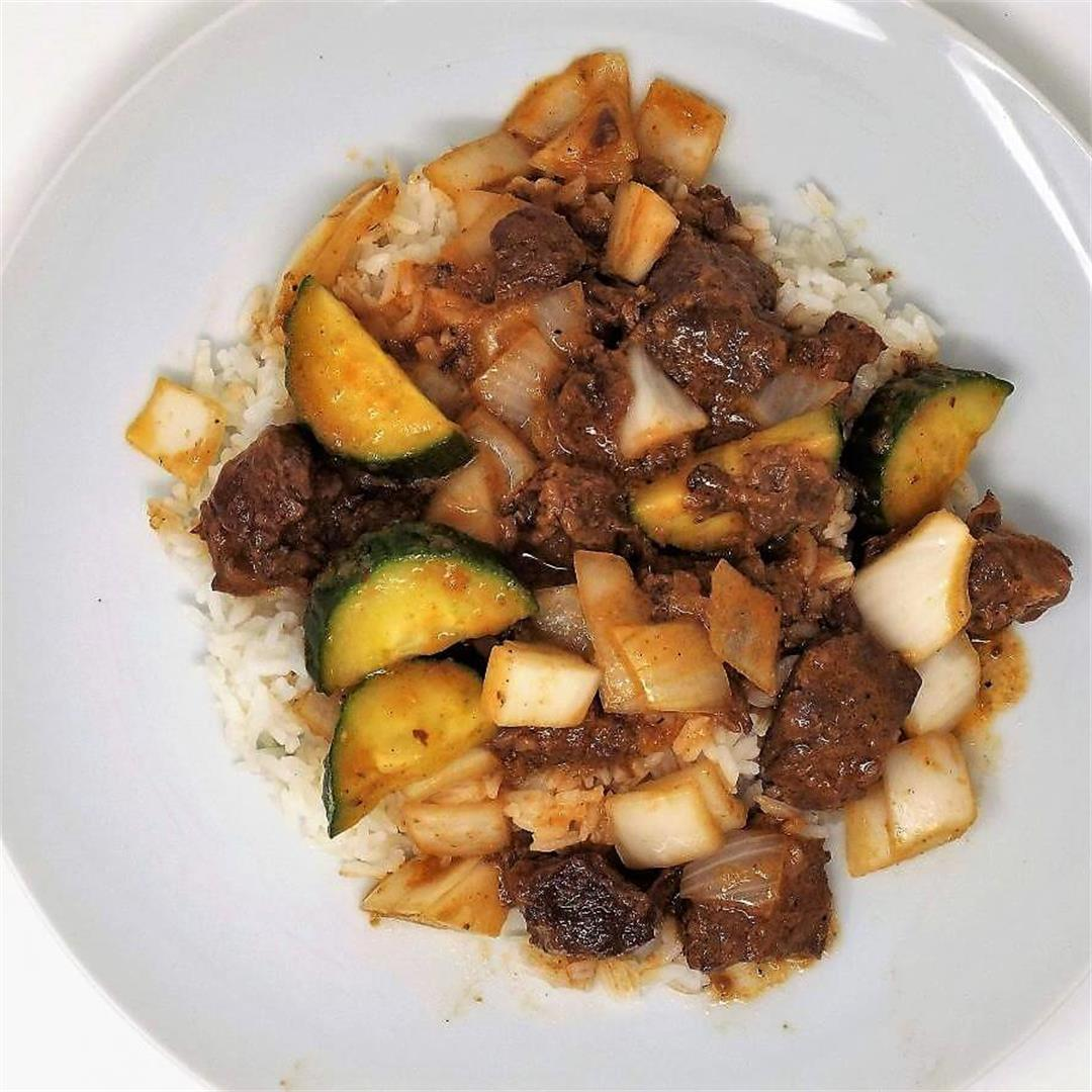 Beef and Cucumber Curry