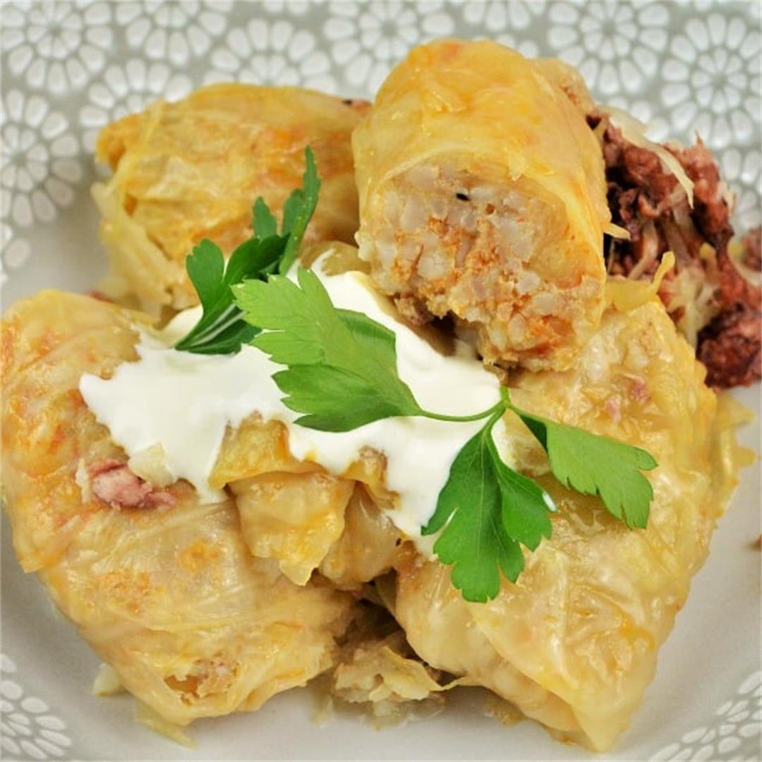 Best Hungarian Stuffed Cabbage Rolls Recipe-Timea's Kitchen