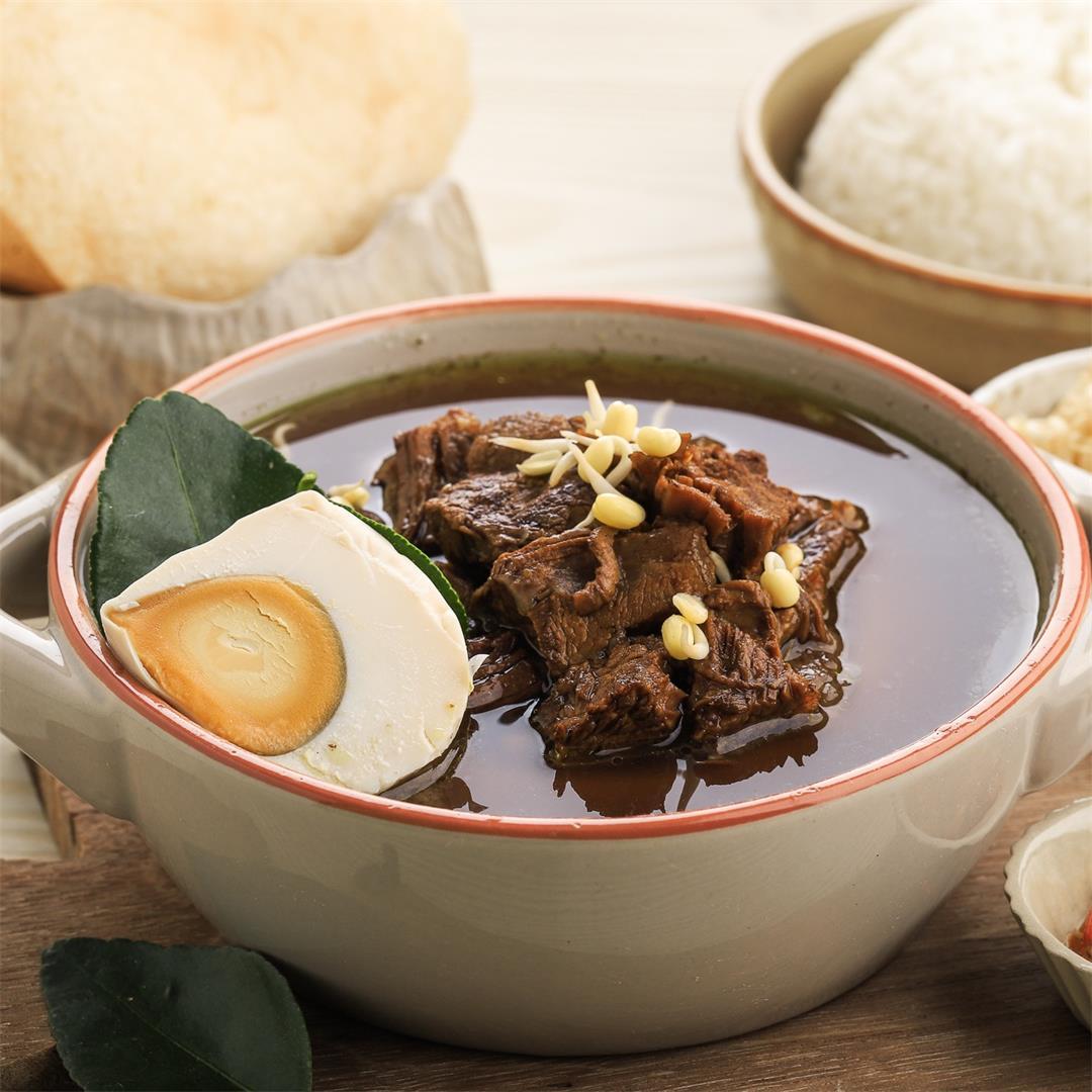 Nasi Rawon Recipe (Indonesian Black Beef Soup)