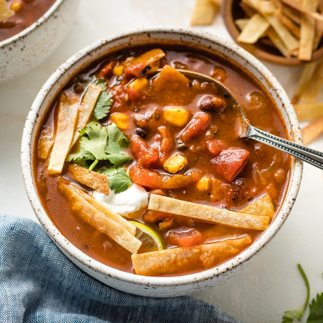 Chipotle Black Bean Tortilla Soup