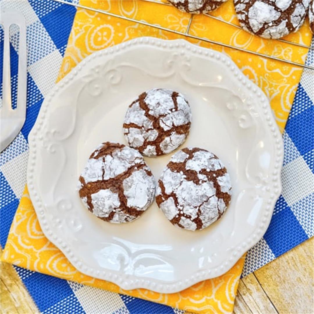 Brownie Mix Crinkle Cookies
