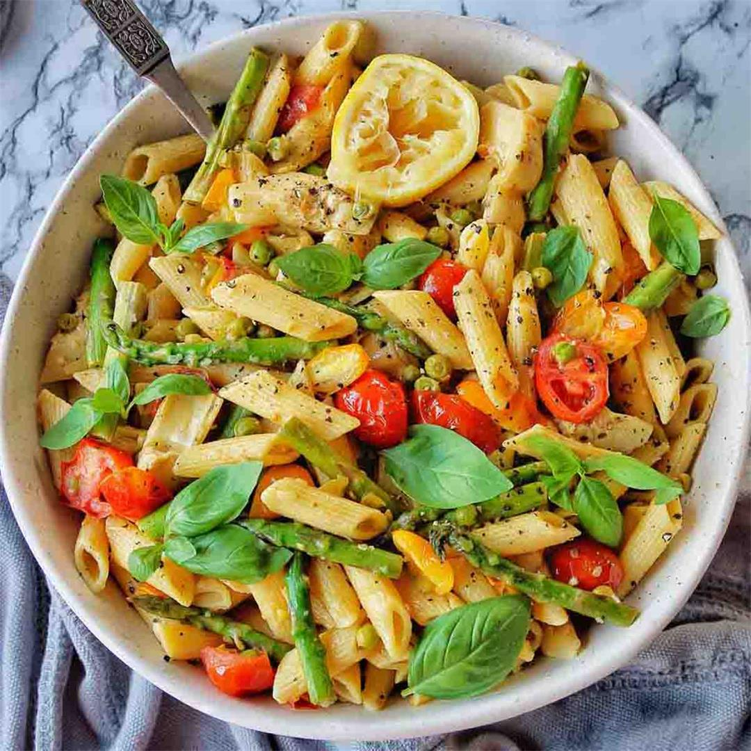 Instant Pot Pasta Primavera in a few easy steps!