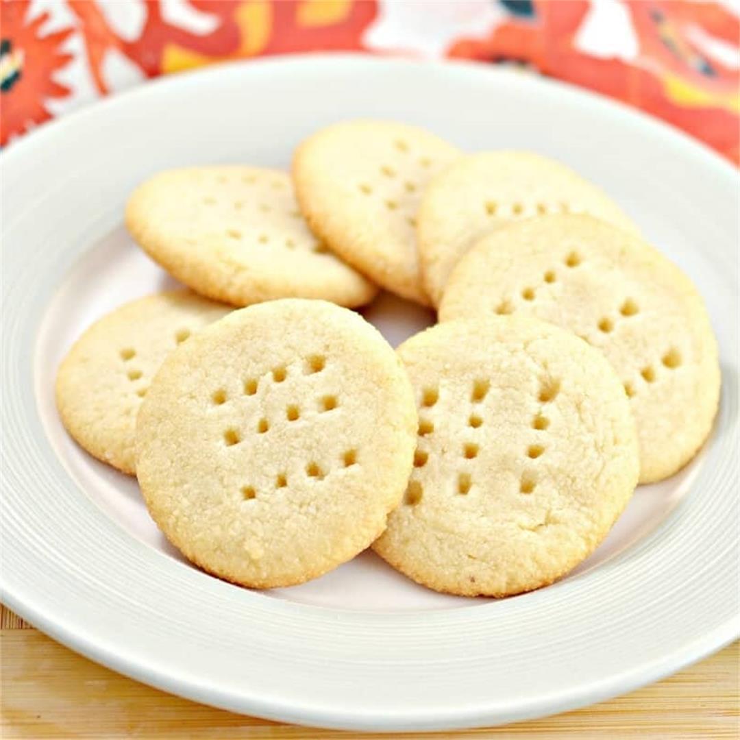 Gluten-Free Keto Butter Shortbread Cookies