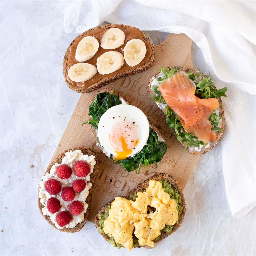 High Protein Breakfast Toasts