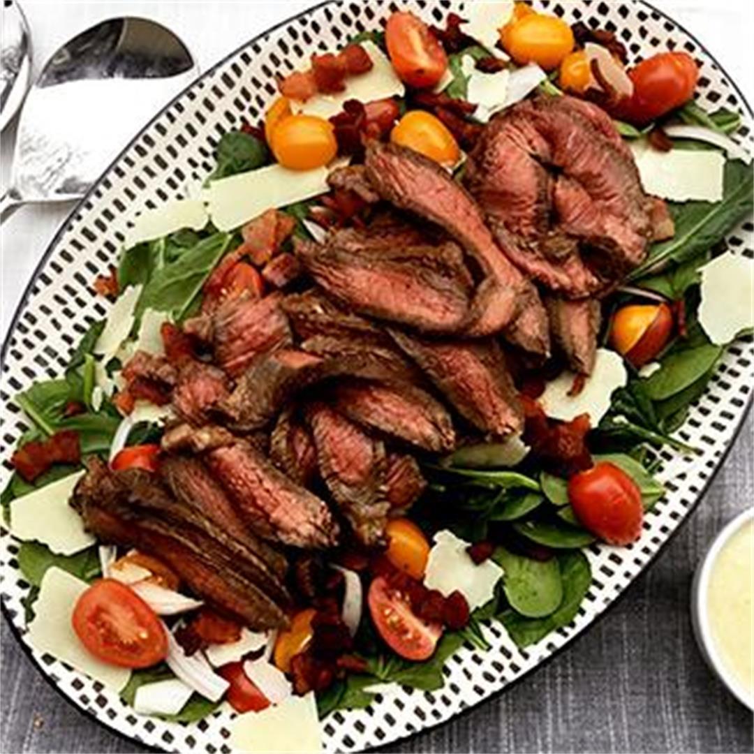 Honey Mustard Marinated Sirloin Tip Steak Salad