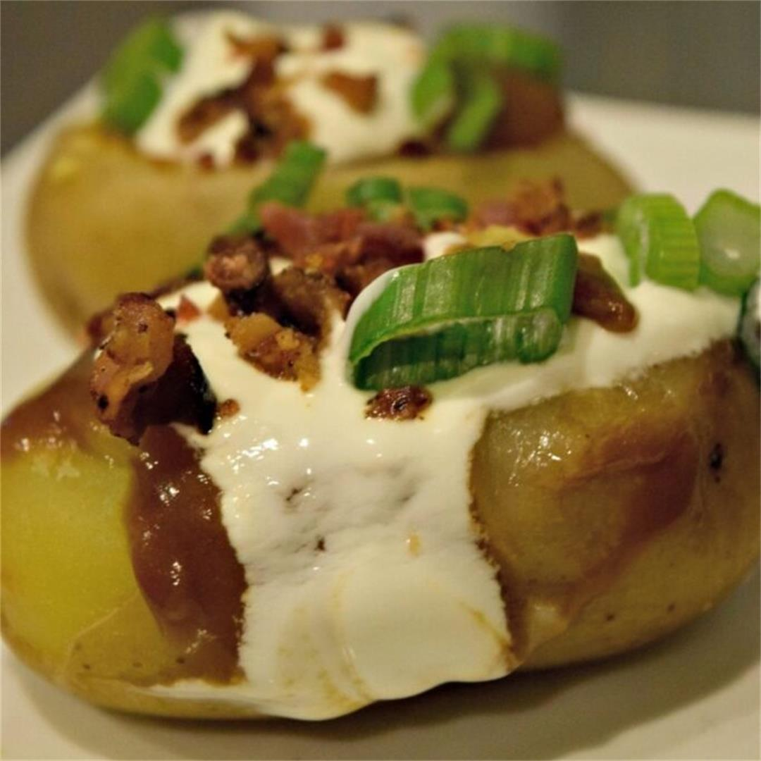 Loaded Poutine Twice Baked Potatoes Recipe