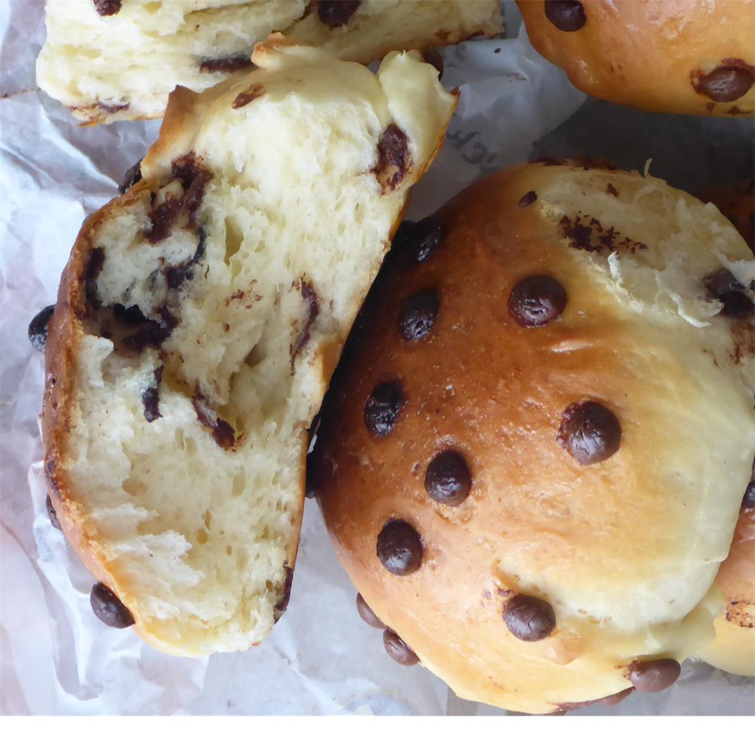 Homemade chocolate buns
