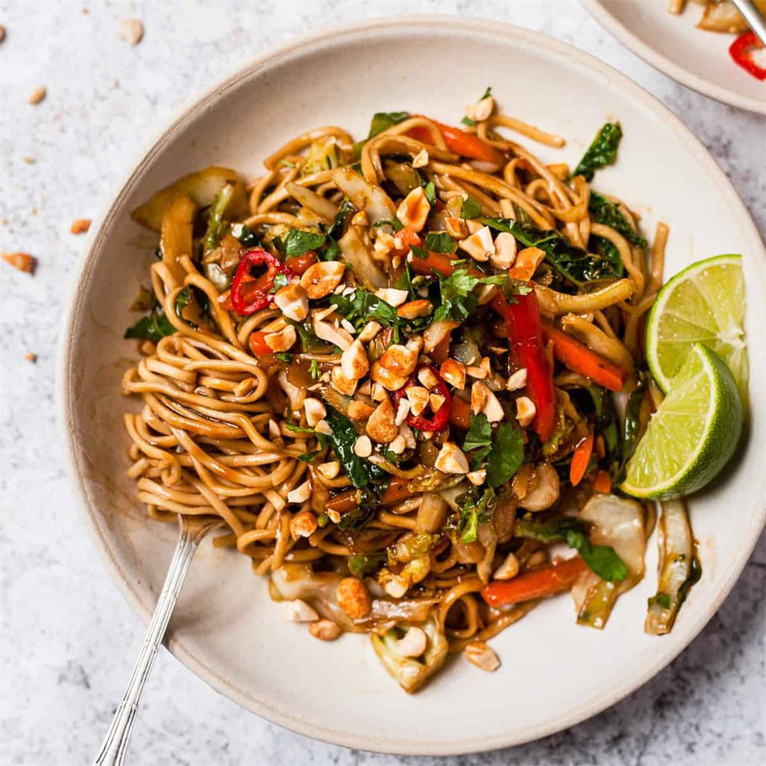 15 Minute Vegetable Stir Fry Noodles