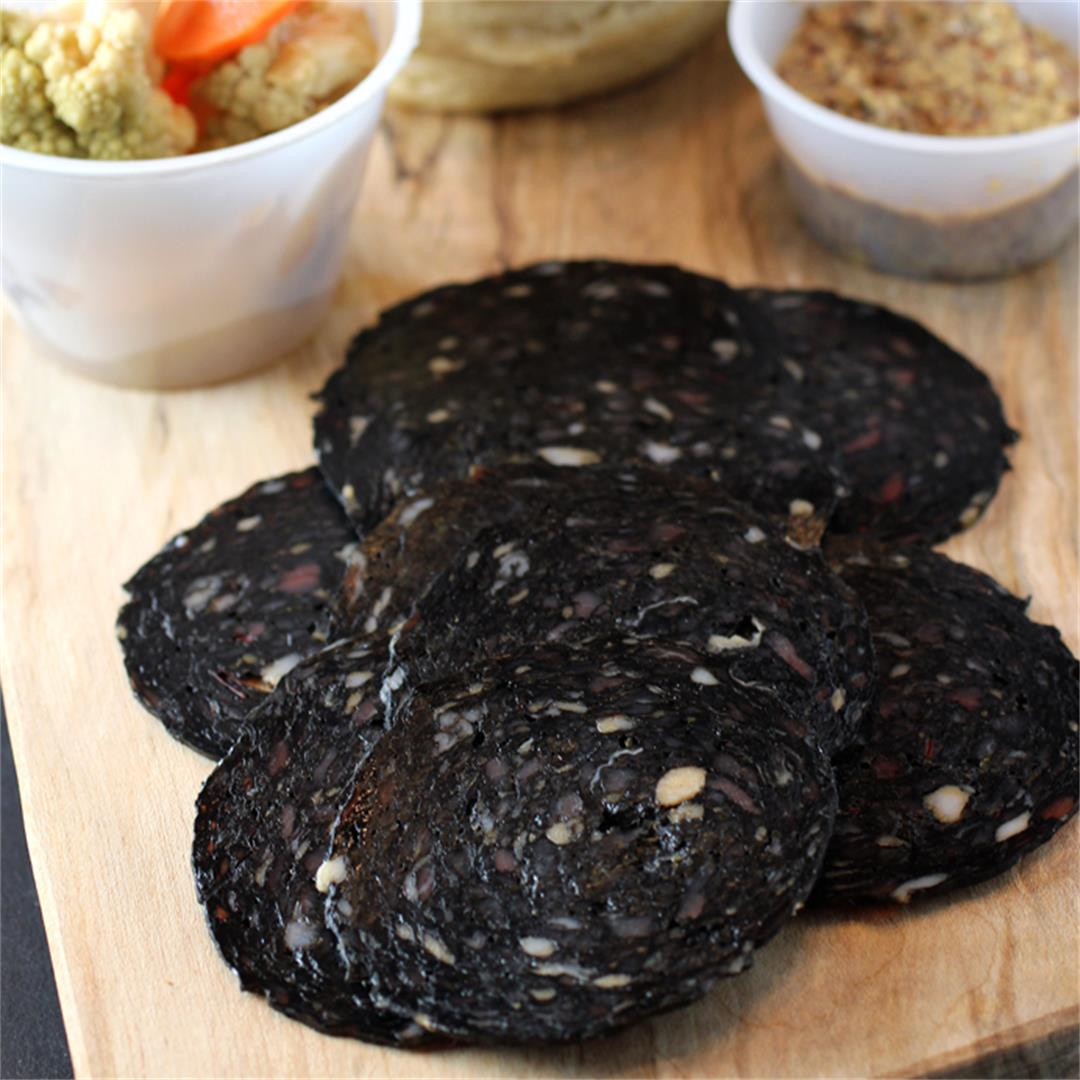 Squid ink salame
