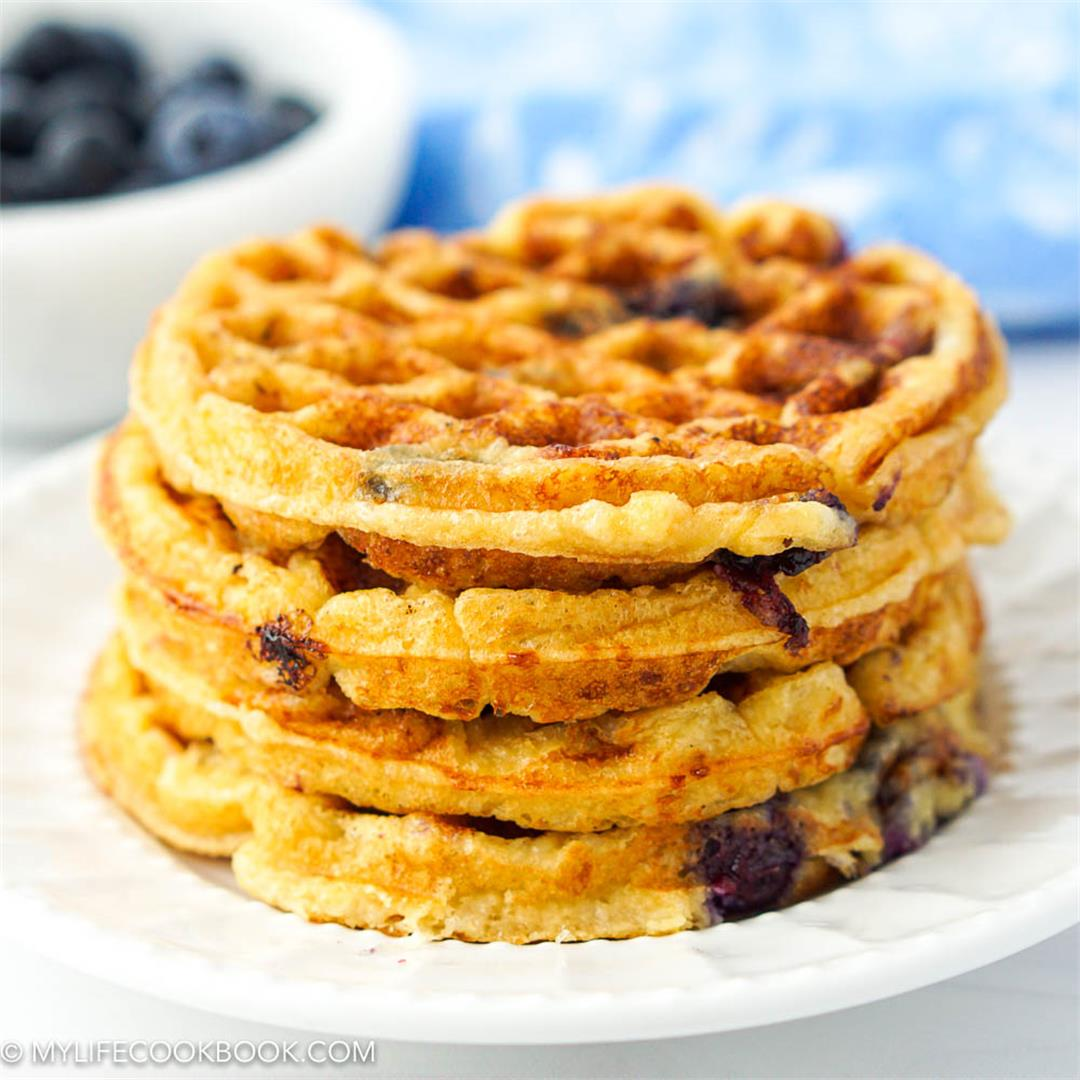 Keto Blueberry Waffles