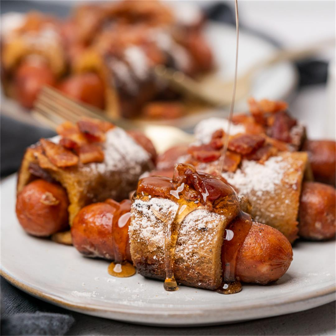 Keto French Toast Pigs in a Blanket