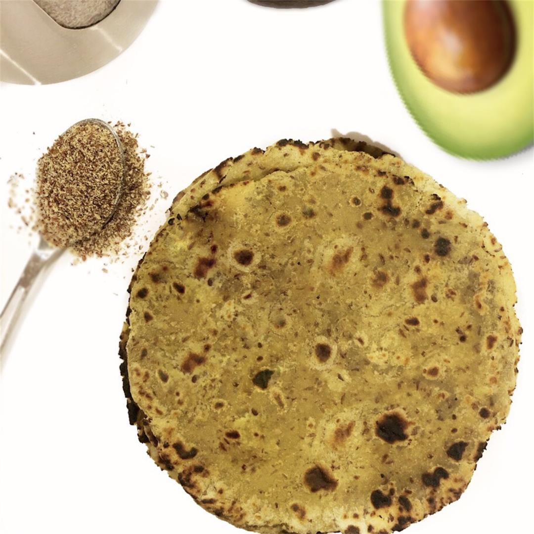 Healthy Avocado Indian Roti