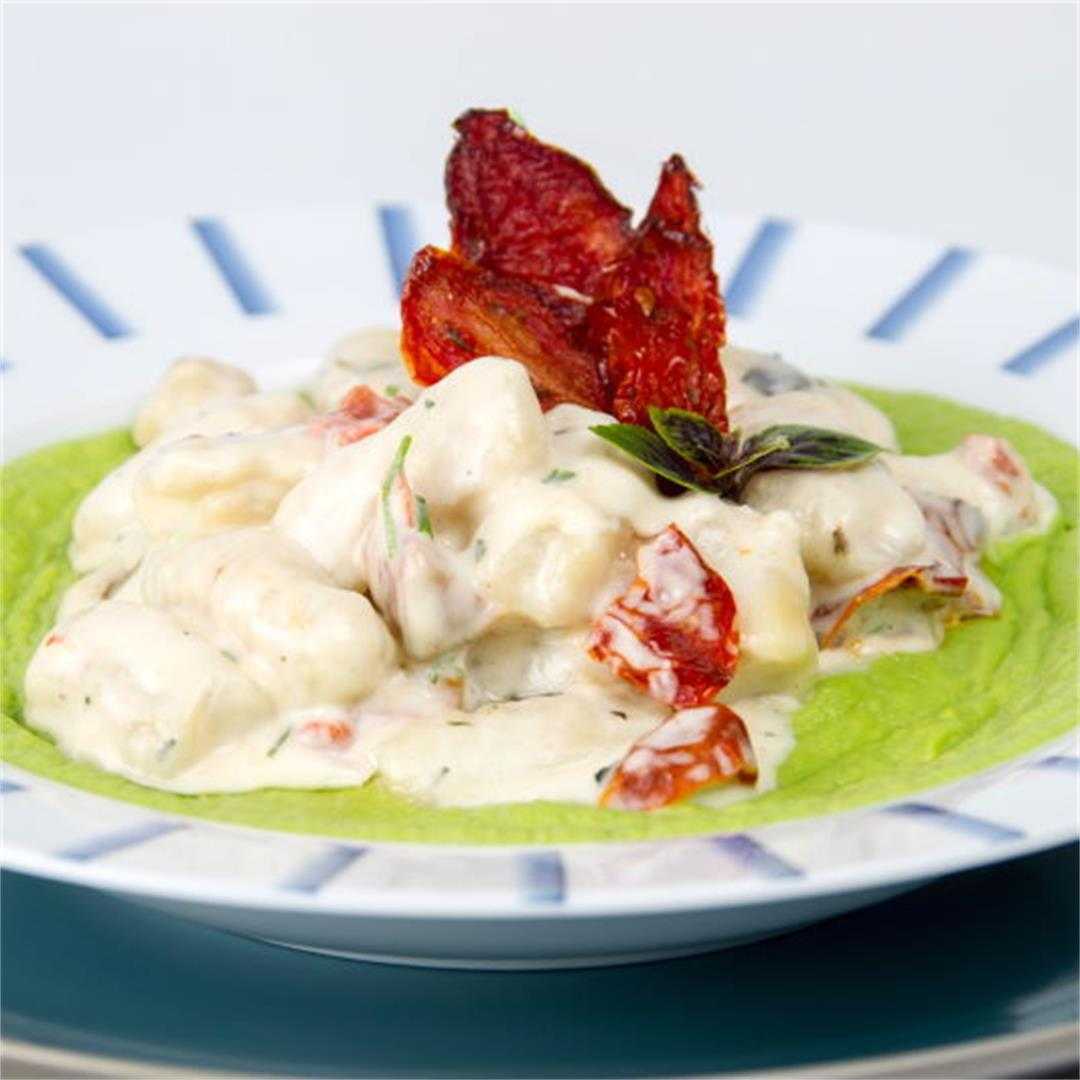 Creamy Gnocchi with Pea Puree
