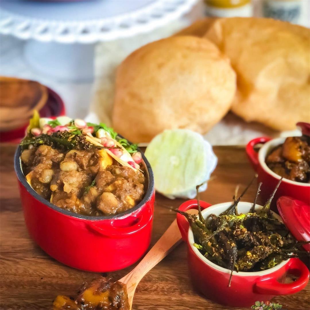 Amritsari Punjabi Chole without Onion Garlic