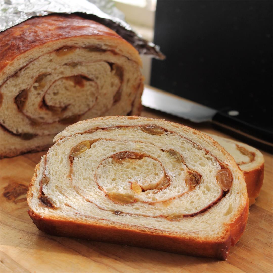 Cinnamon Raisin Bread – My Recipe Reviews
