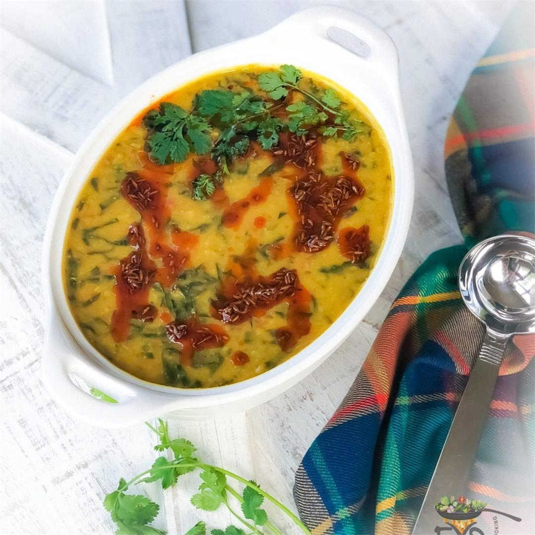 Palak Dal – Spinach Lentil Soup