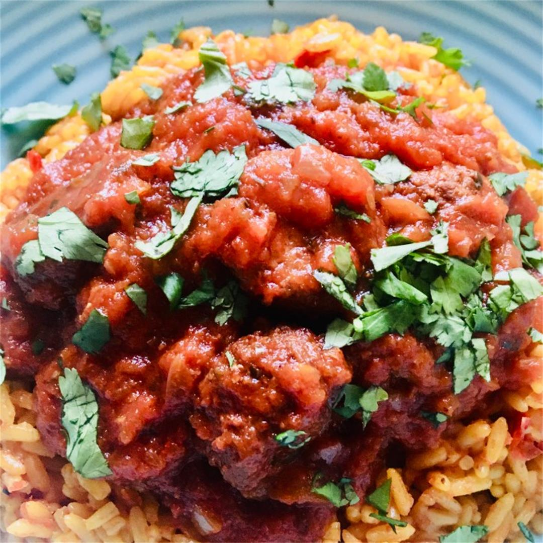 Crockpot Mexican Chipotle Meatballs