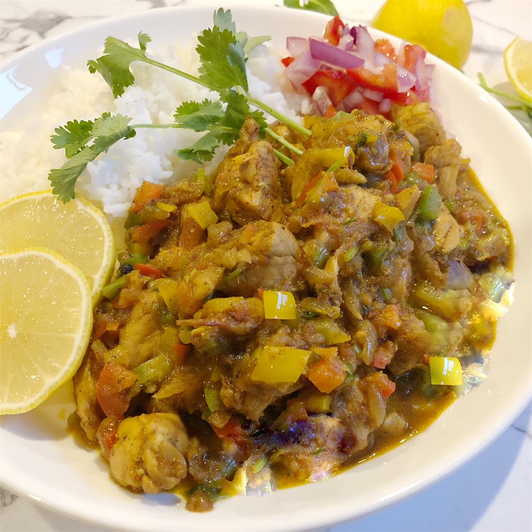 Bell Pepper Chicken Curry