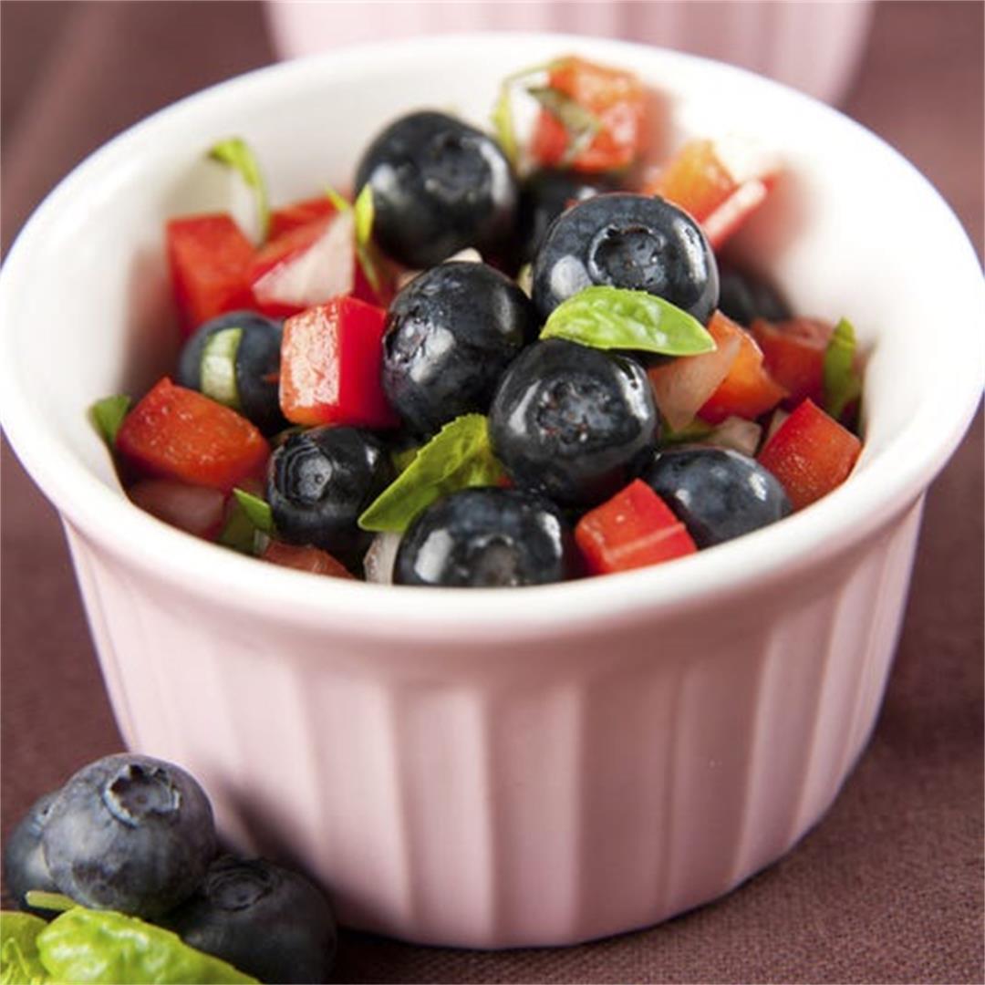 Tropical Spice Blueberry Fruit Salsa