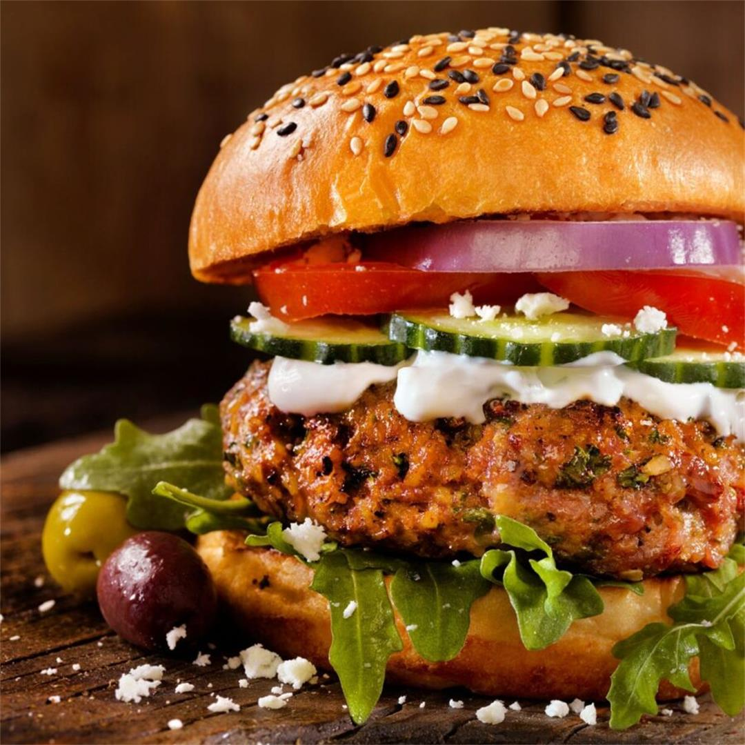 Gourmet Greek Lamb Burgers