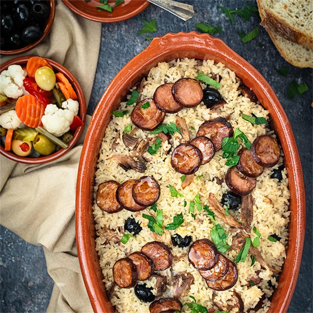 Portuguese duck rice - arroz de pato