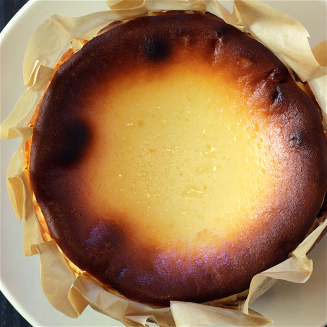 Japanese-style Basque cheesecake