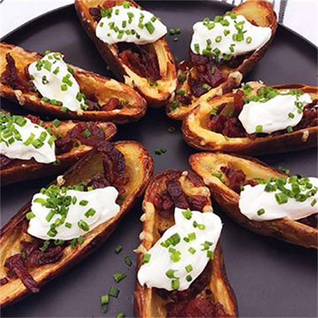 Fullblood Wagyu Beef Bacon Crispy Potato Skins