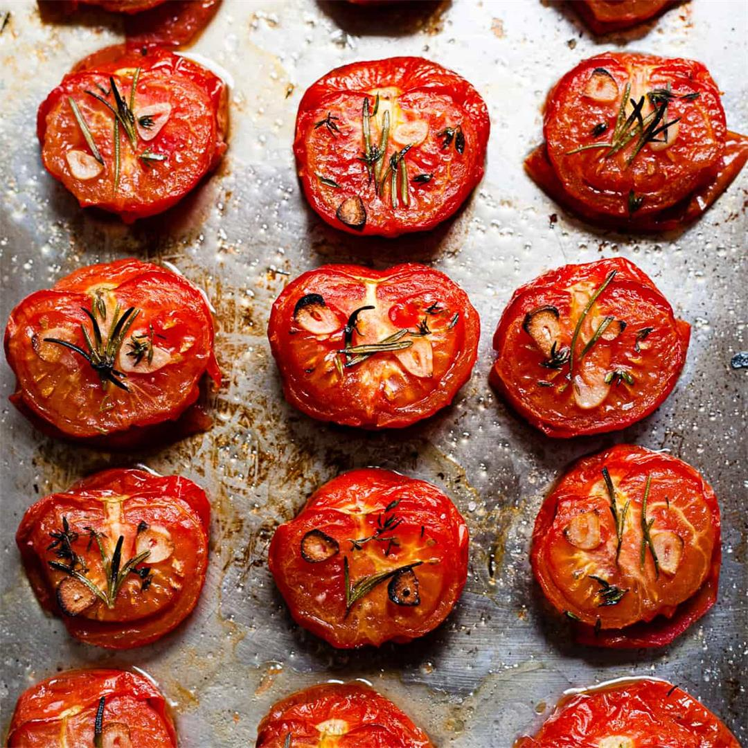 Easy Oven Roasted Tomatoes (Aldi Ingredients Only)