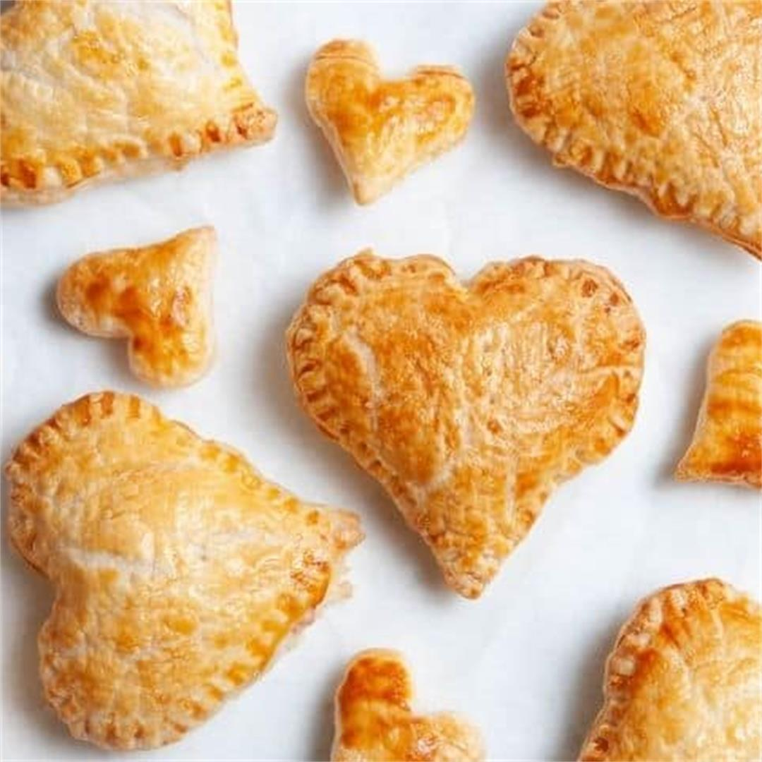 Ham and Cheese Puff Pastry Hearts