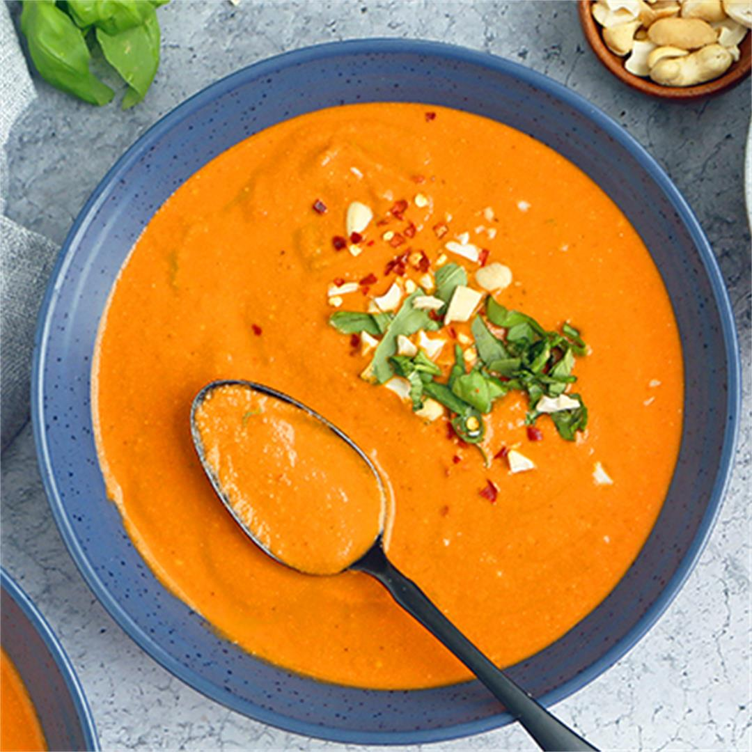 Vegan Tomato Basil Soup (No stock)