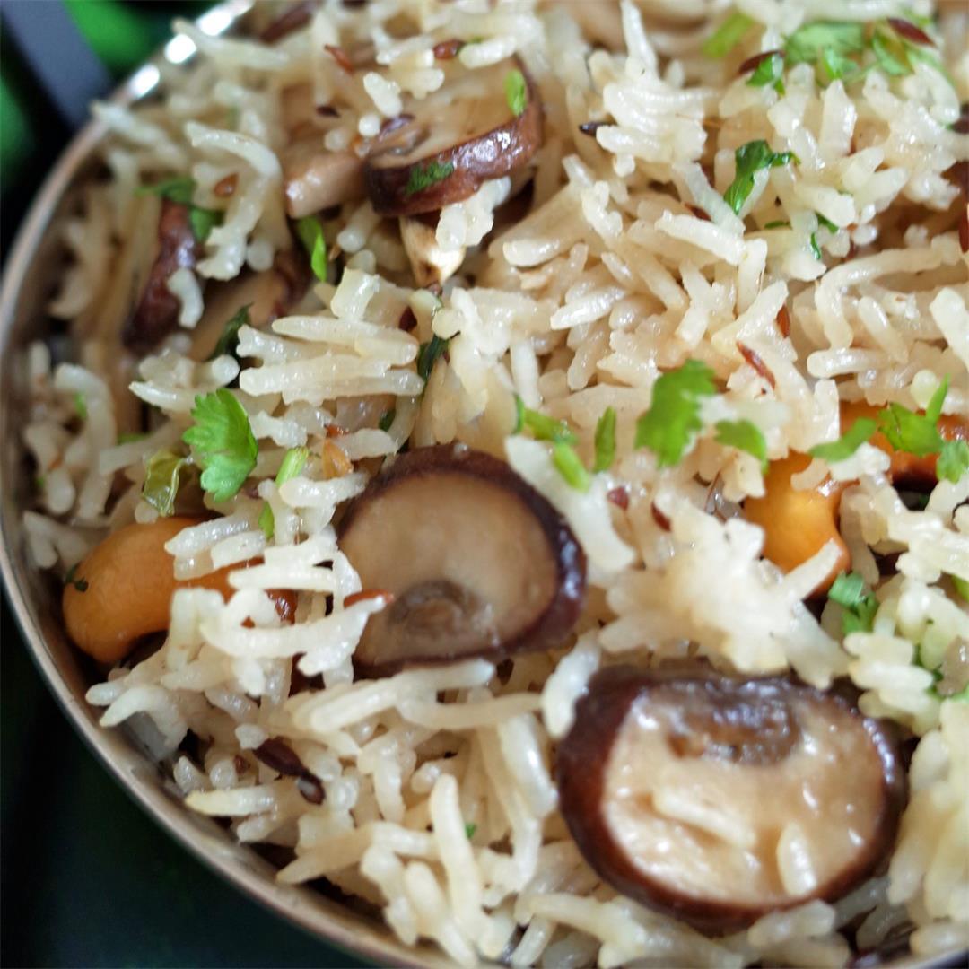 Chestnut Mushroom Pulao
