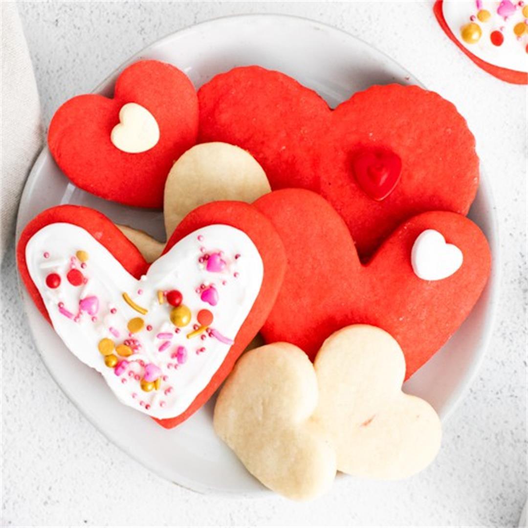 Shortbread Heart Cookies