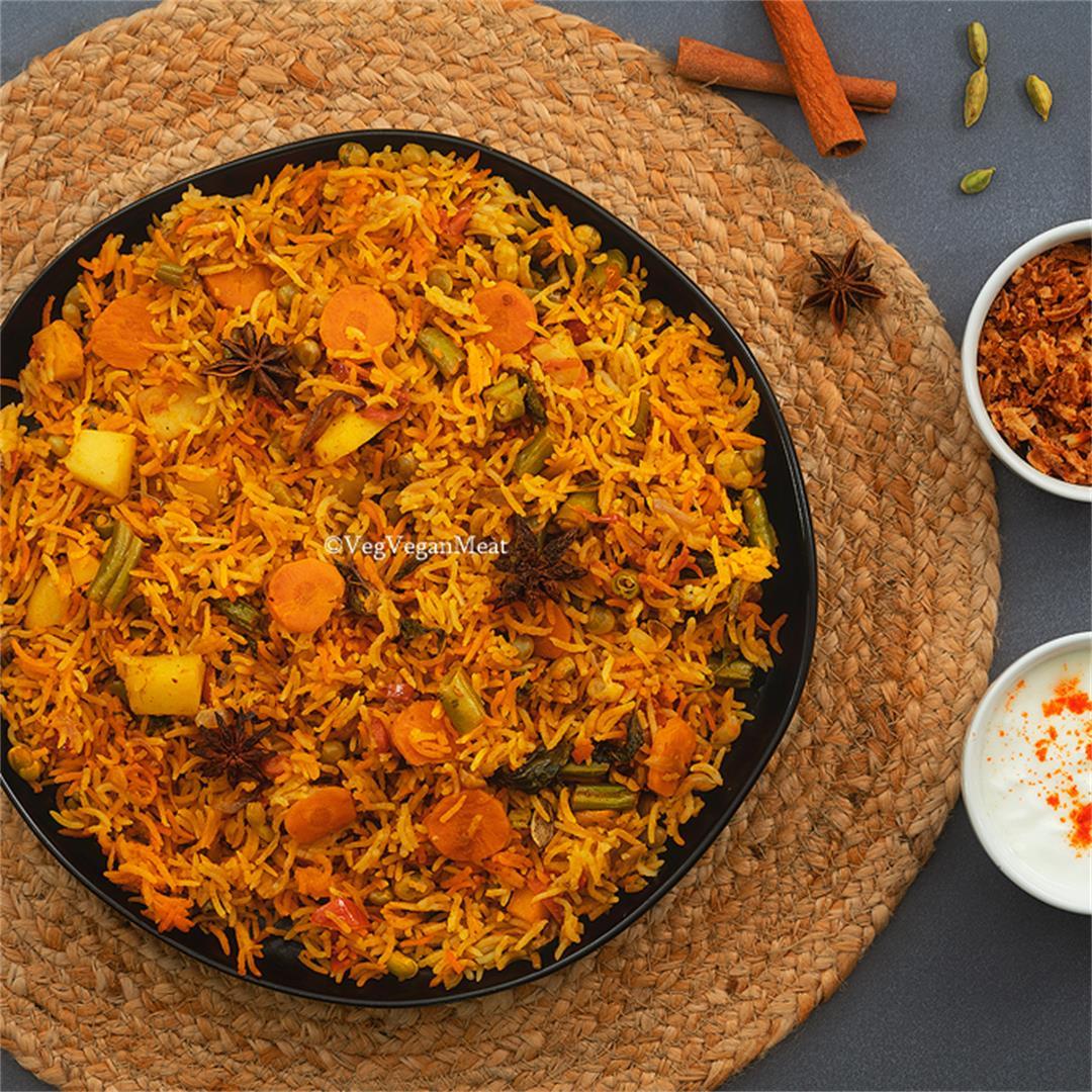 Vegetable Dum Biryani | Veg Pulao