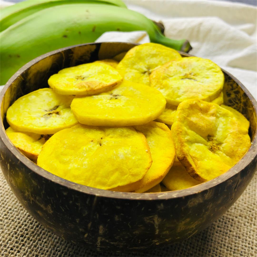 Plantain chips in air fryer