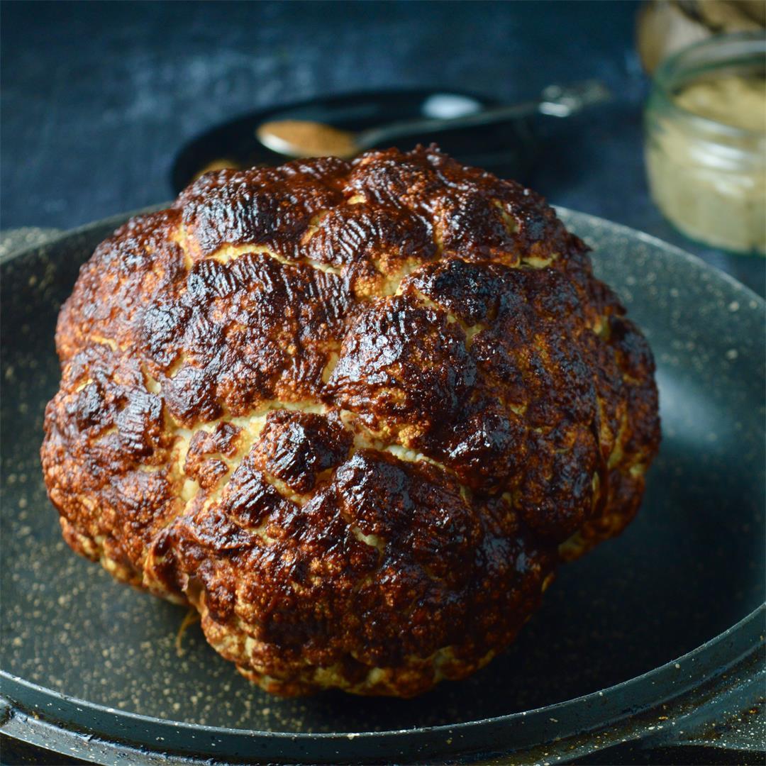 Harrisa Roasted Cauliflower