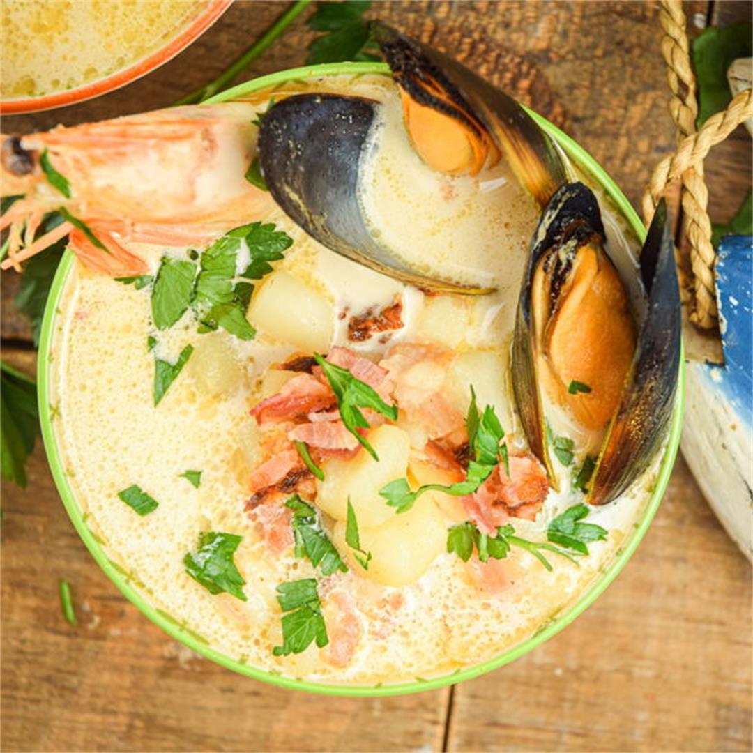 Electric Skillet Seafood Chowder