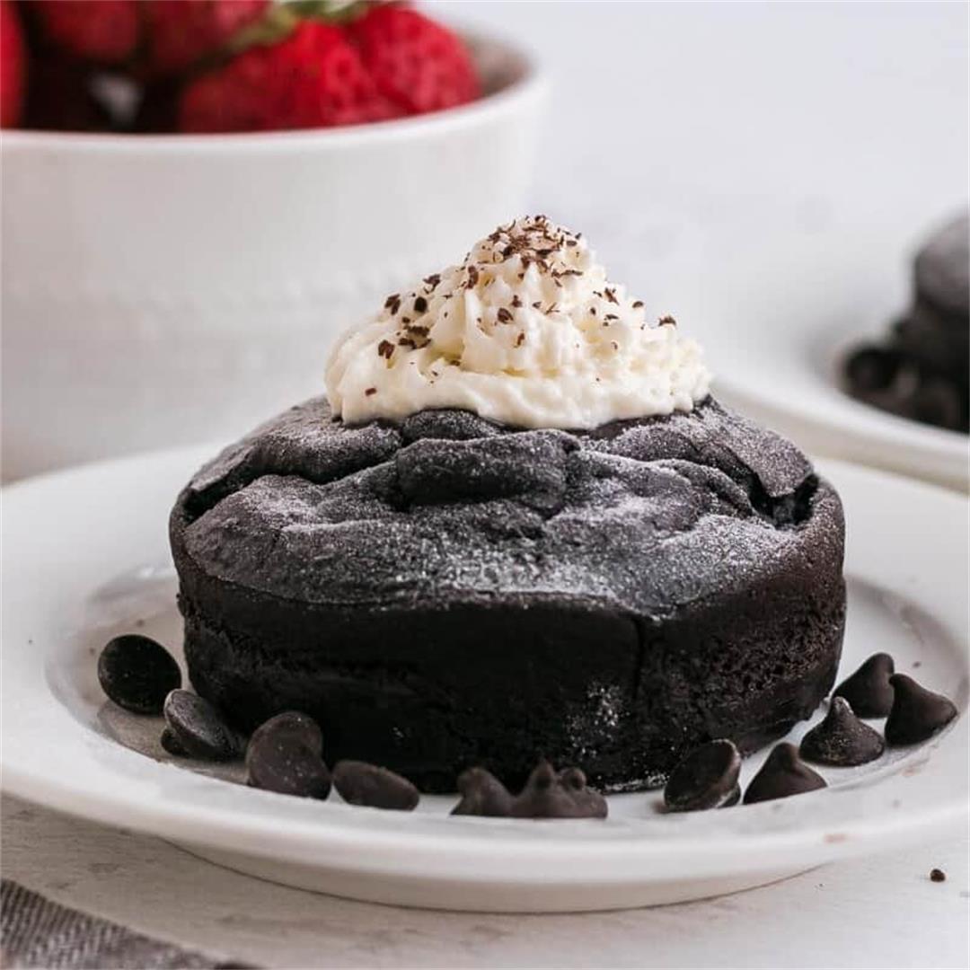 Keto Chocolate Molten Lava Cake