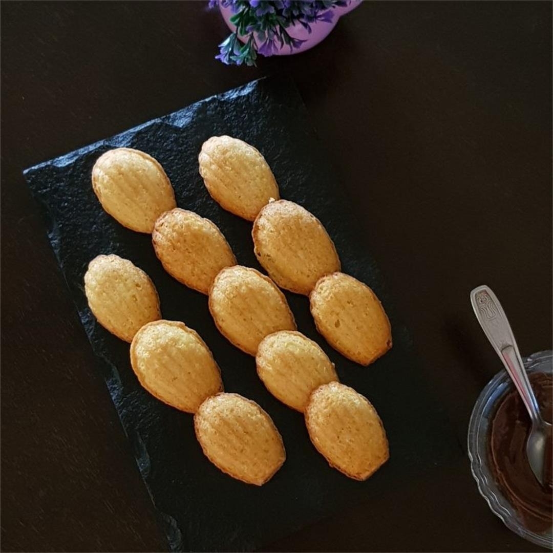 How To Make Easy Lemon Madeleines/ Eggless Madeleines Recipe  