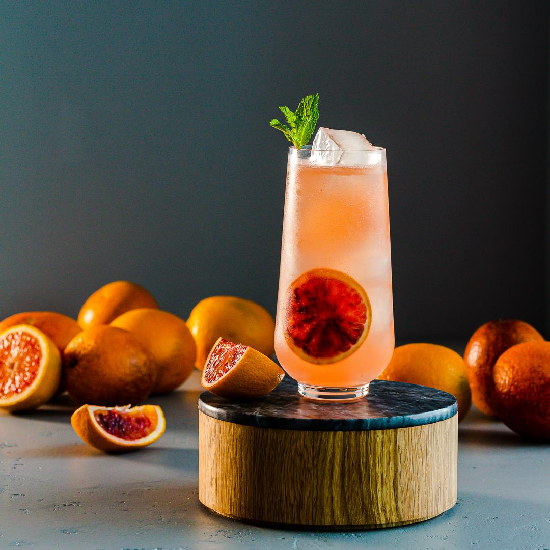 Blood Orange Cocktail with Ginger Beer