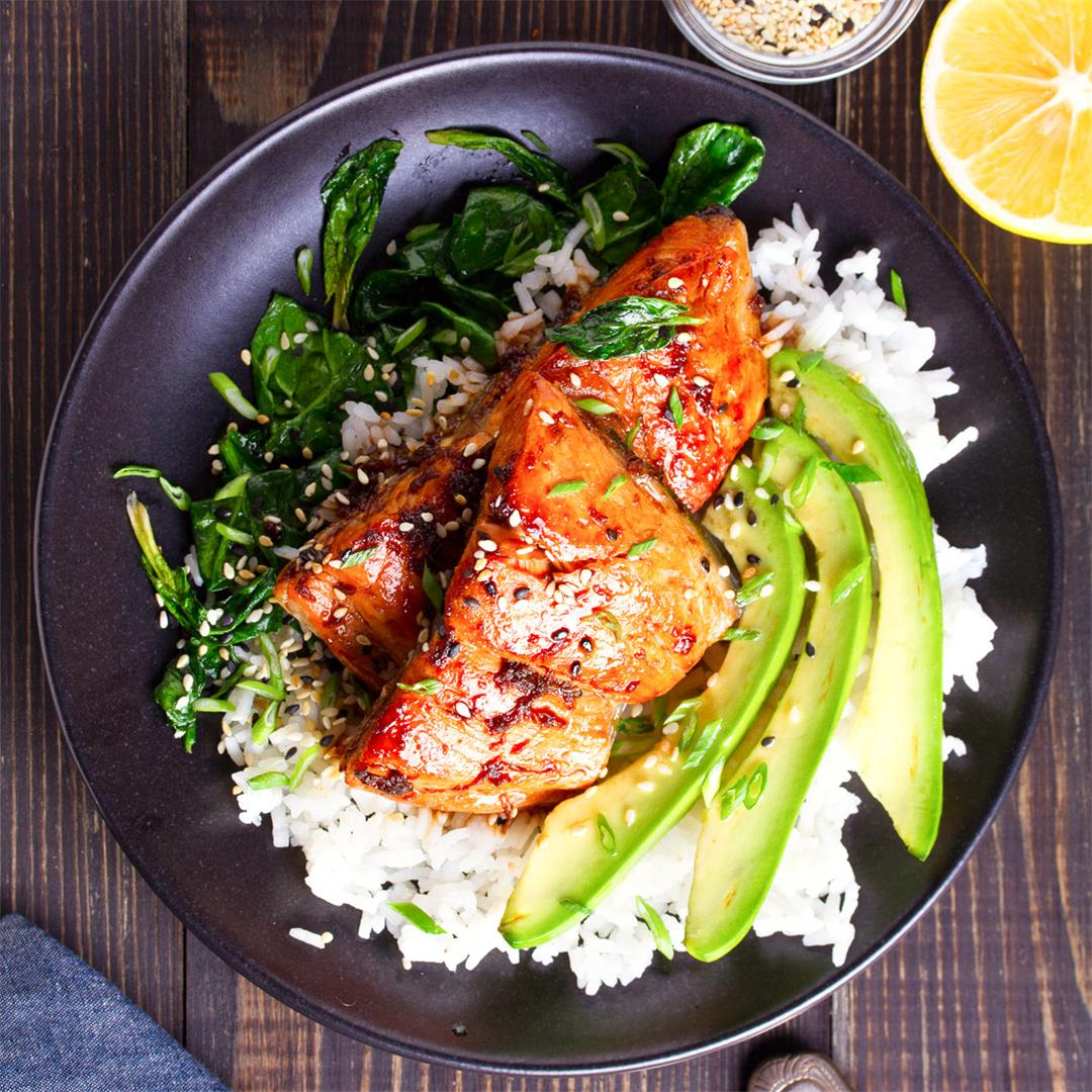 5-Ingredient Miso Glazed Salmon
