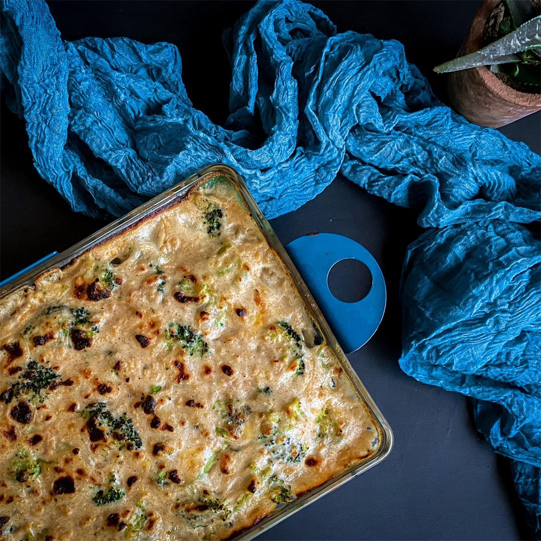 Delicious Skinny Blue Cheese and Broccoli Casserole