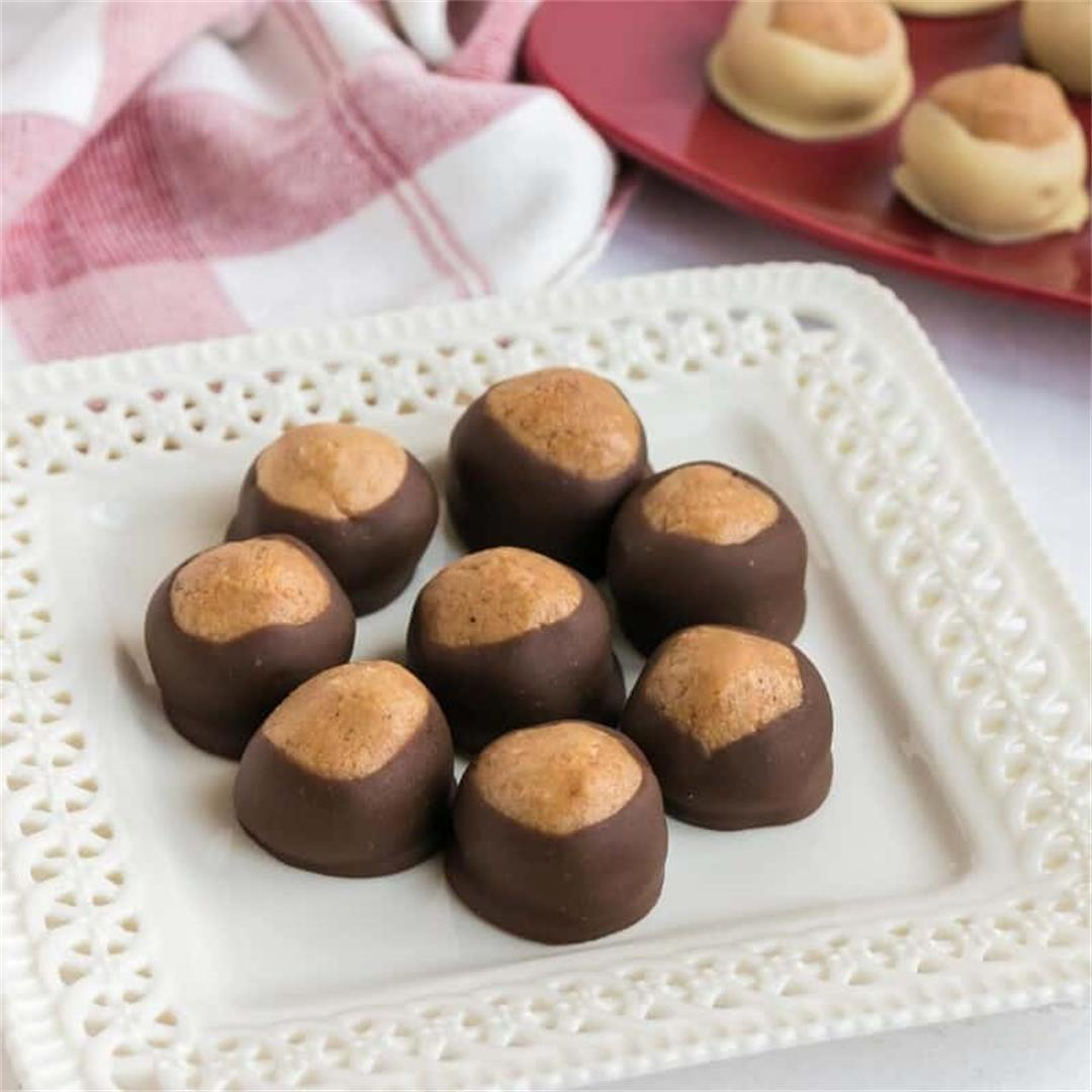 Keto Peanut Butter Balls (Buckeyes)