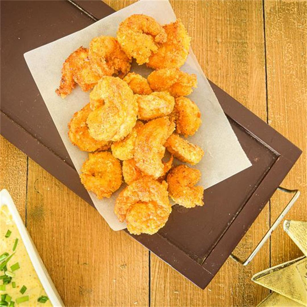 Electric Skillet Coconut Shrimp with Curry Mayo