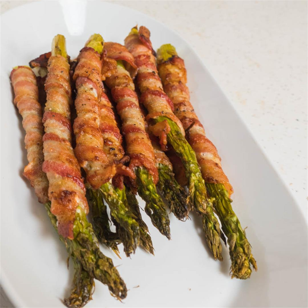 Bacon Wrapped Asparagus (Air Fryer)